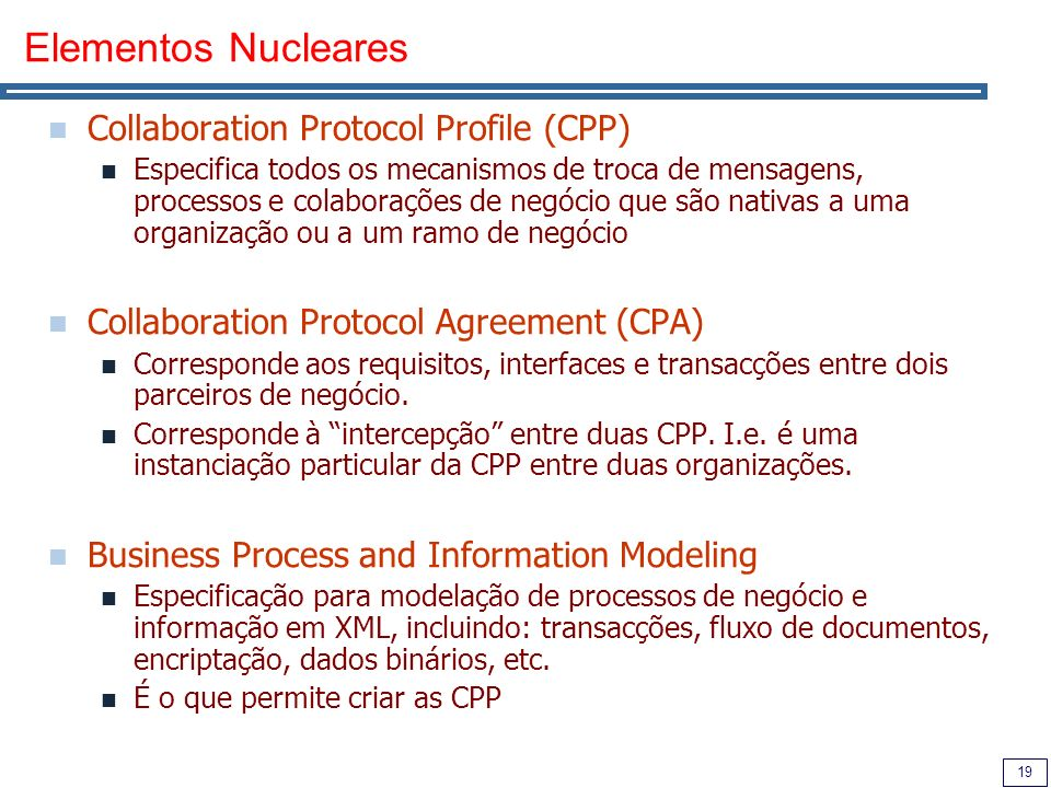 Elementos Nucleares Collaboration Protocol Profile (CPP)