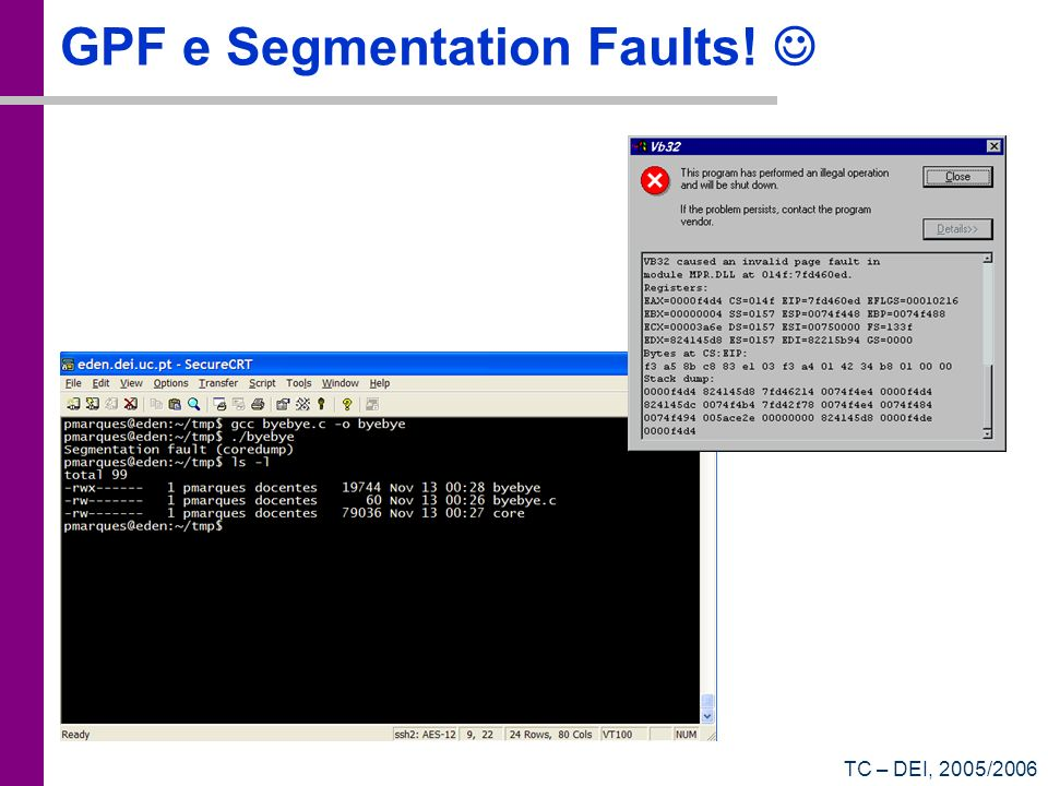 GPF e Segmentation Faults! 