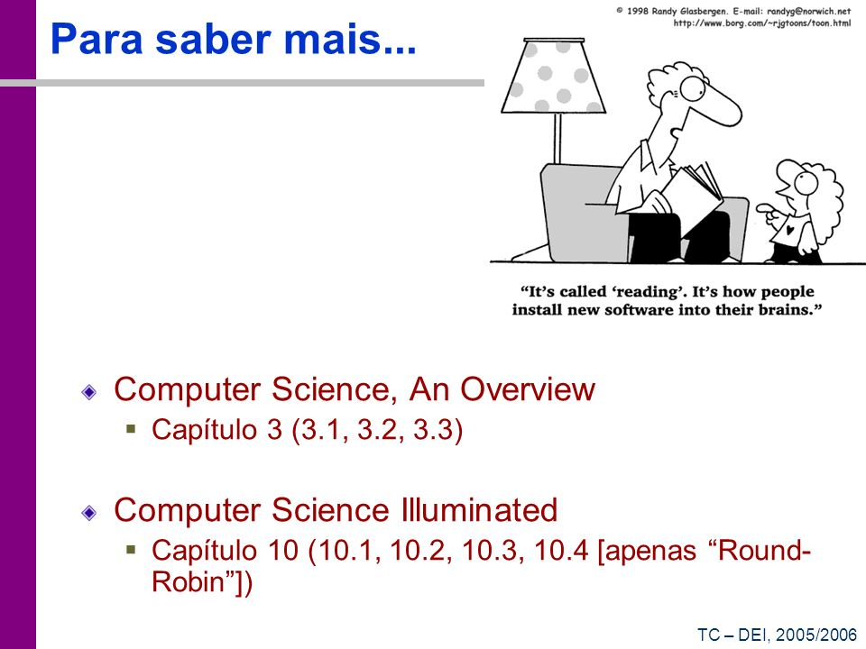 Para saber mais... Computer Science, An Overview