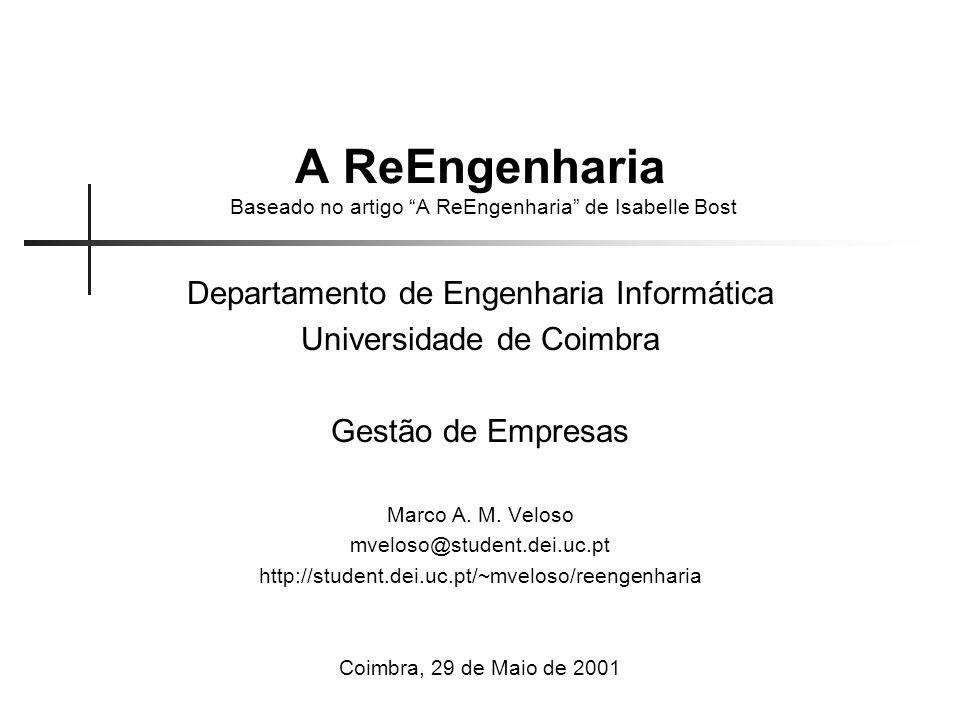 A ReEngenharia Baseado no artigo A ReEngenharia de Isabelle Bost