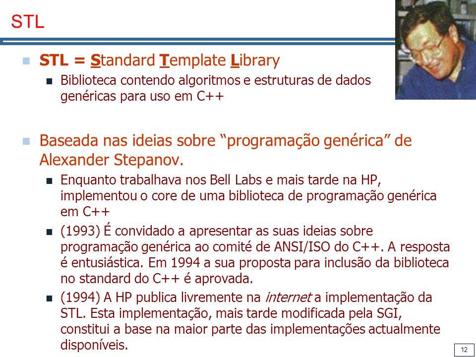 STL STL = Standard Template Library