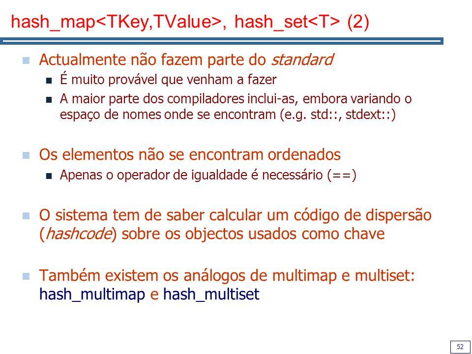 hash_map<TKey,TValue>, hash_set<T> (2)