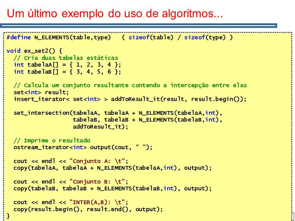 Um último exemplo do uso de algoritmos...