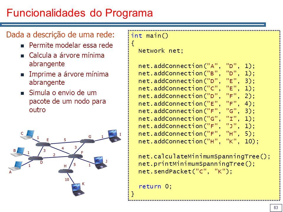 Funcionalidades do Programa