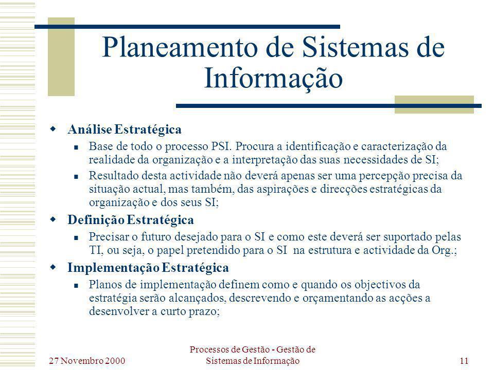 Planeamento de Sistemas de Informação