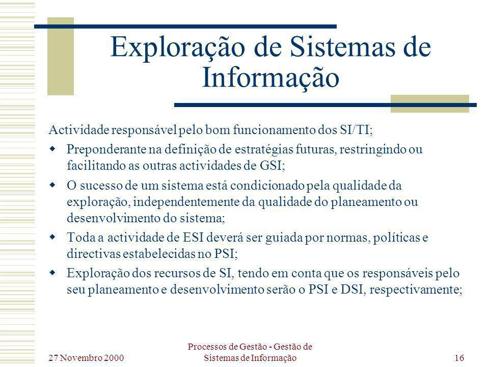 Exploração de Sistemas de Informação