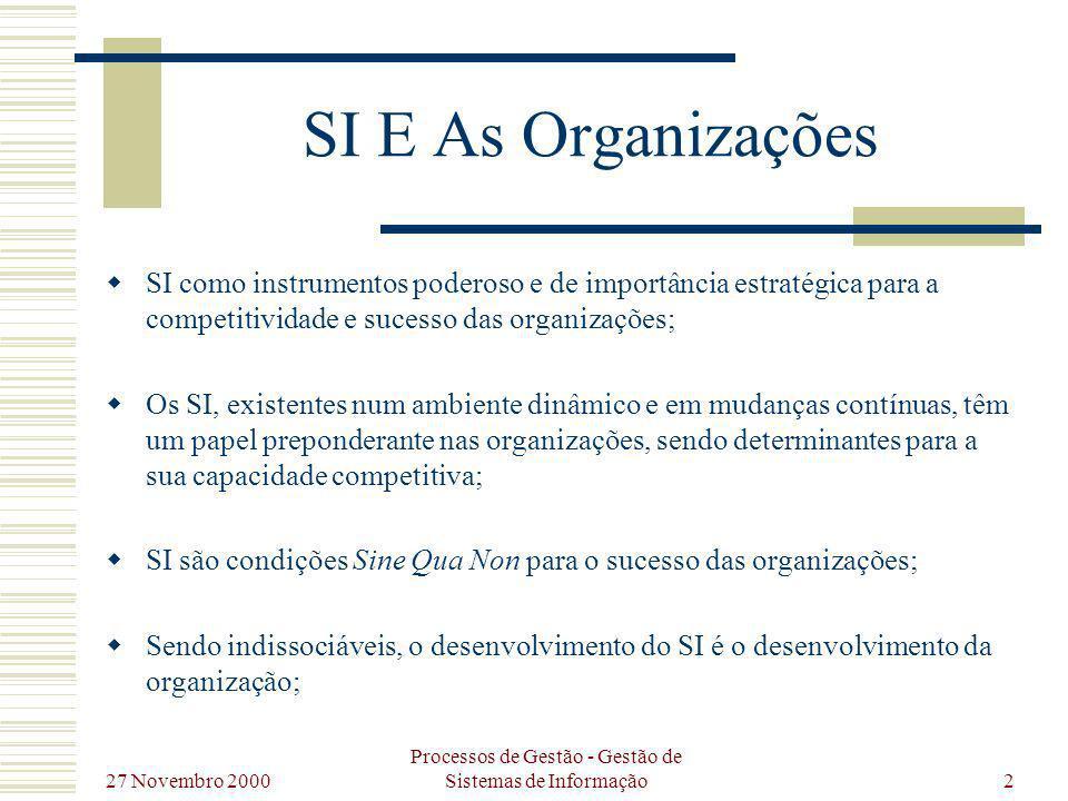 Processos de Gestão - Gestão de Sistemas de Informação