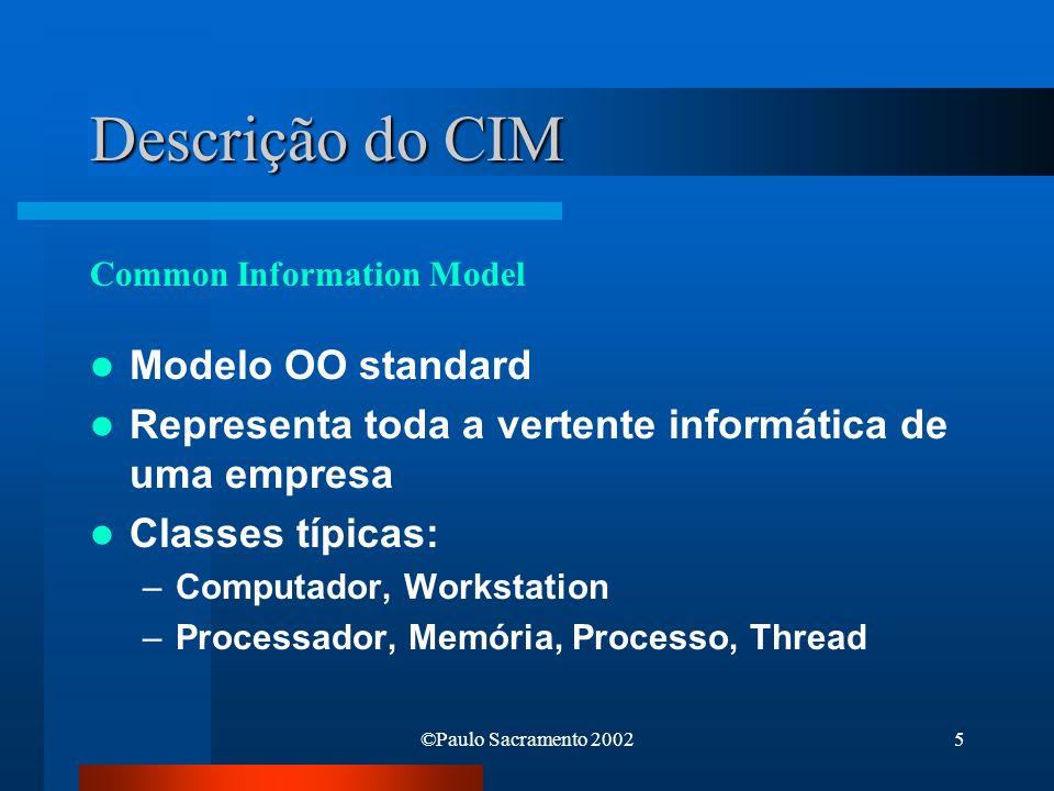 Descrição do CIM Modelo OO standard