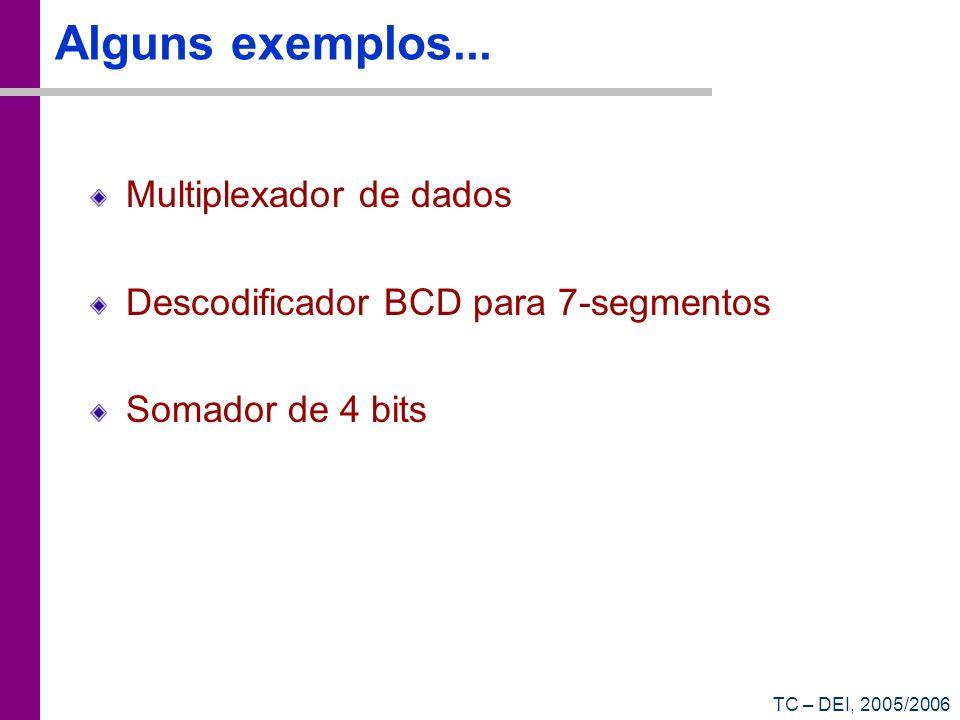 Alguns exemplos... Multiplexador de dados