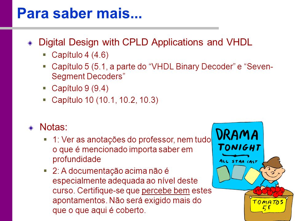 Para saber mais... Digital Design with CPLD Applications and VHDL