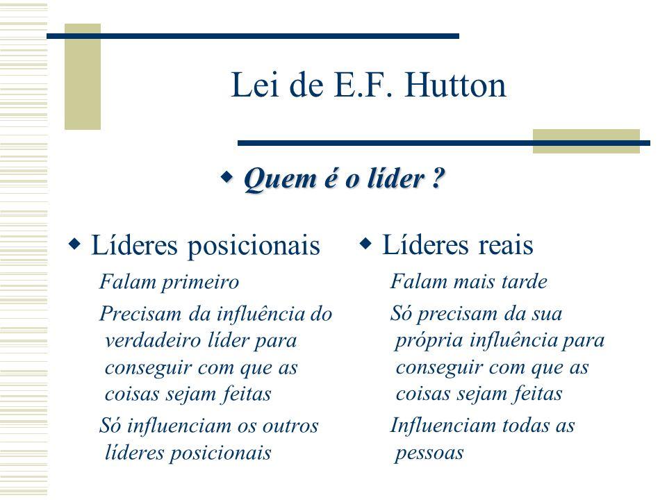 Lei de E.F. Hutton Quem é o líder Líderes posicionais Líderes reais