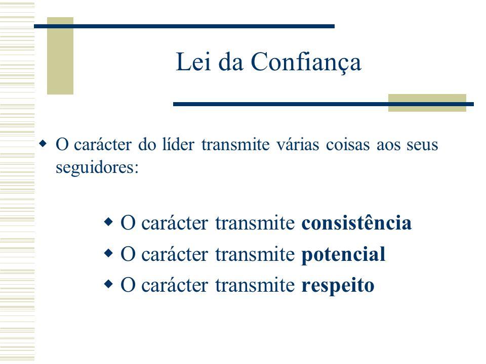 Lei da Confiança O carácter transmite consistência