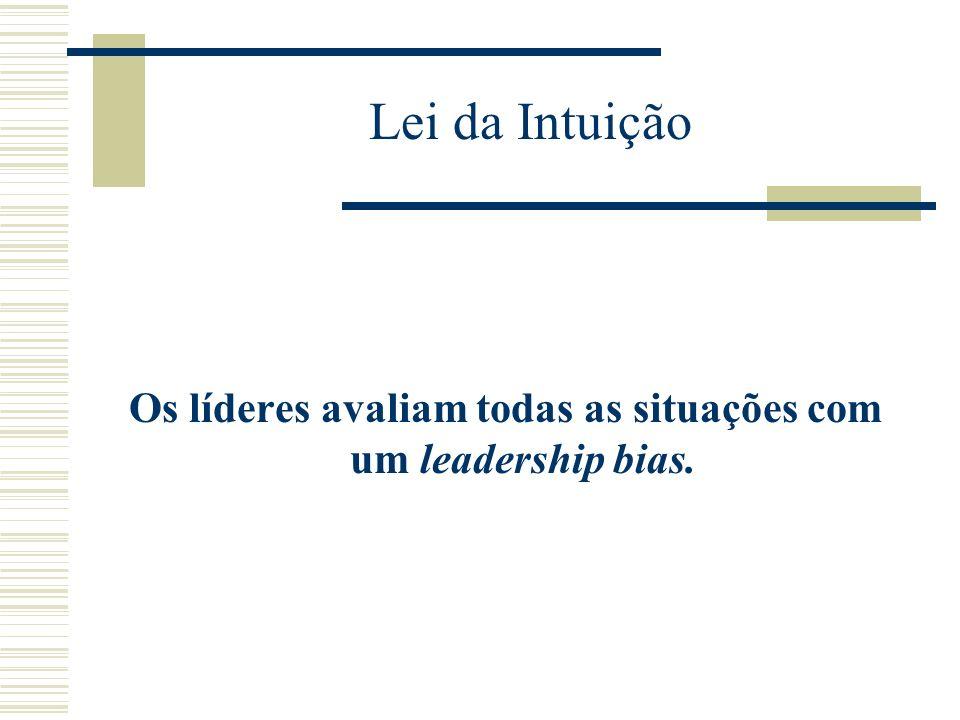 Os líderes avaliam todas as situações com um leadership bias.