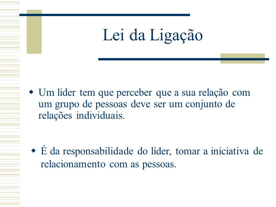 Lei da LigaçãoUm líder tem que perceber que a sua relação com um grupo de pessoas deve ser um conjunto de relações individuais.
