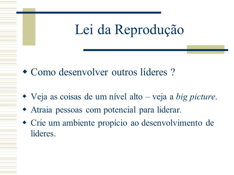 Lei da Reprodução Como desenvolver outros líderes