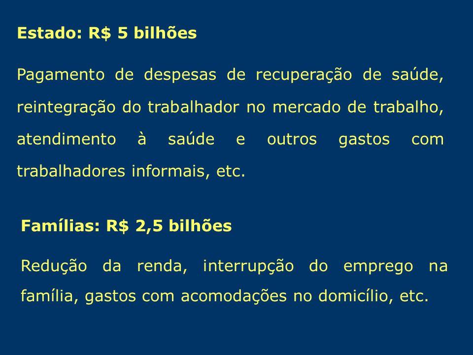 Estado: R$ 5 bilhões