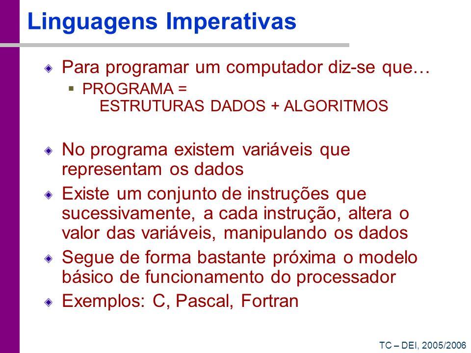 Linguagens Imperativas
