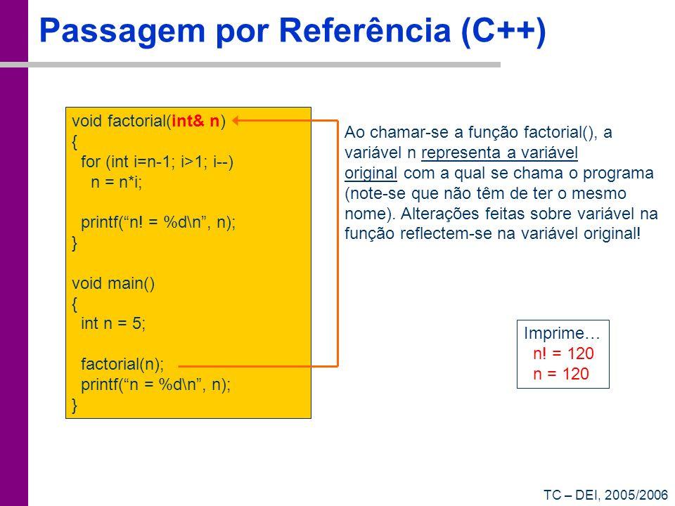 Passagem por Referência (C++)
