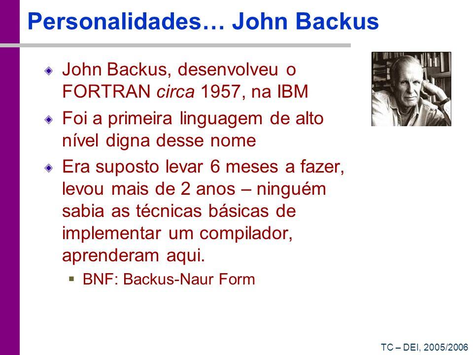 Personalidades… John Backus