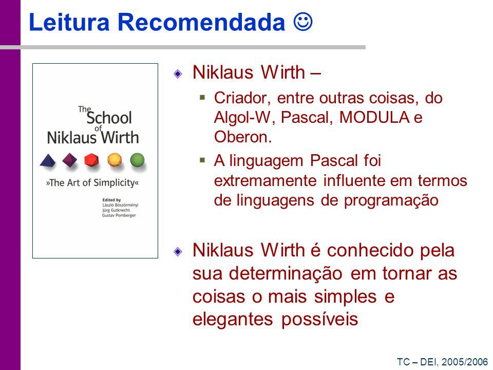 Leitura Recomendada  Niklaus Wirth –