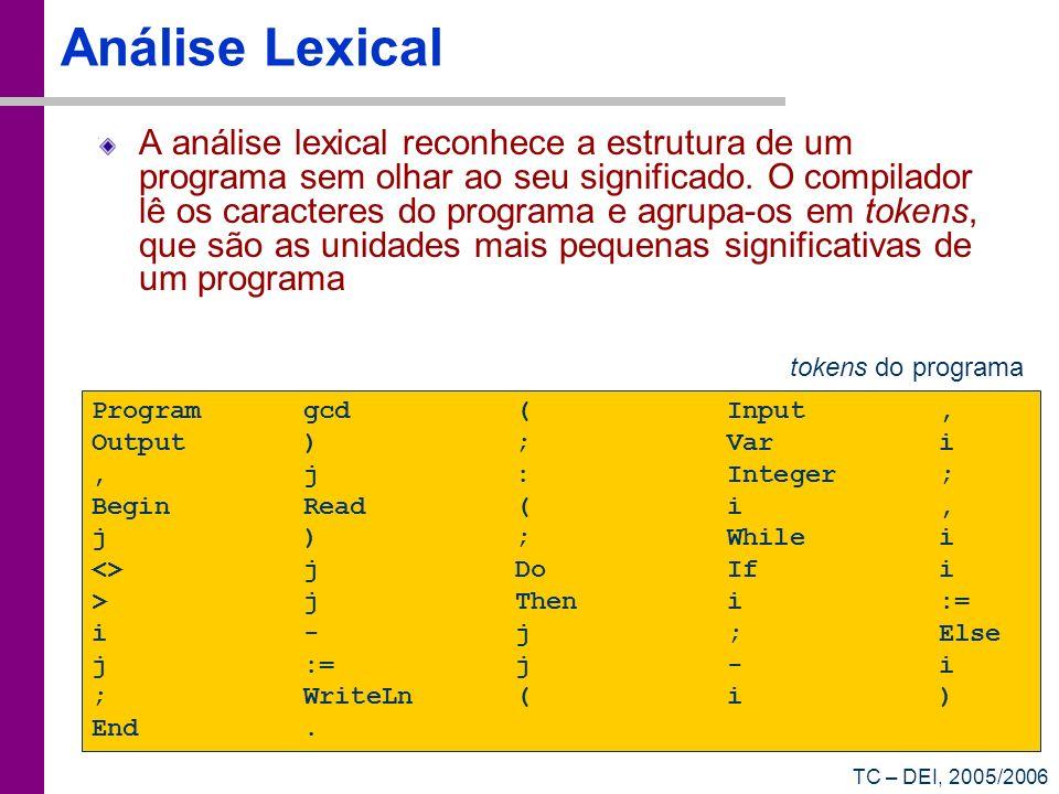 Análise Lexical