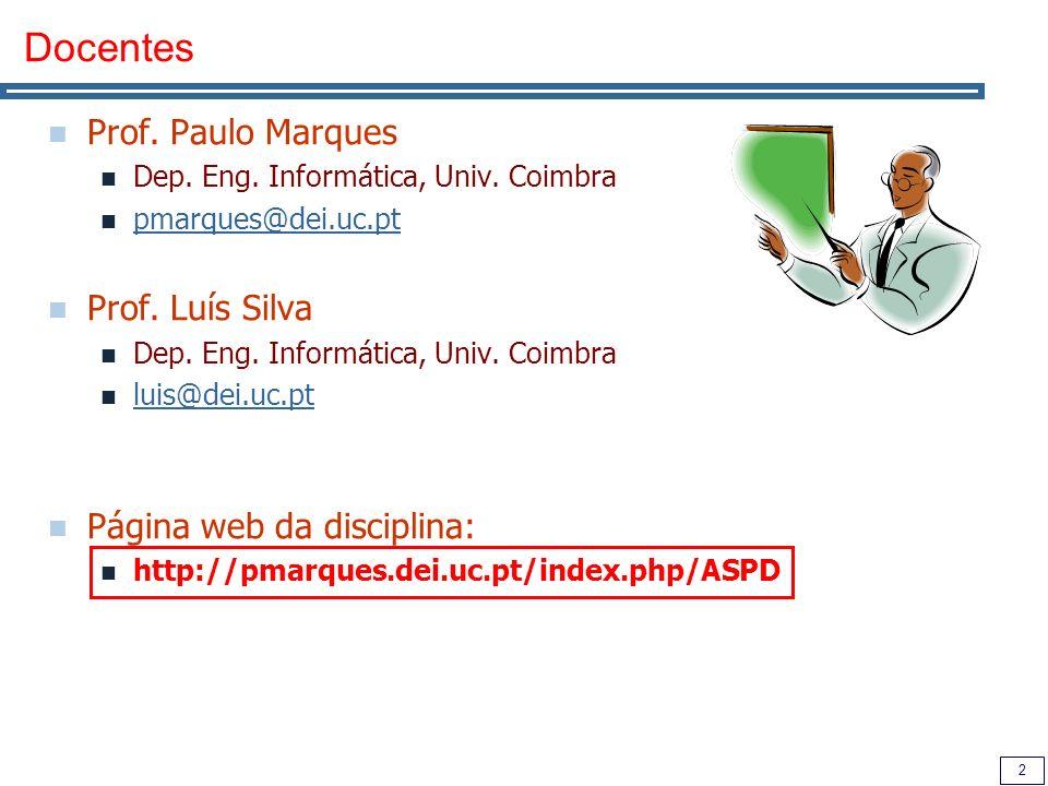 Docentes Prof. Paulo Marques Prof. Luís Silva