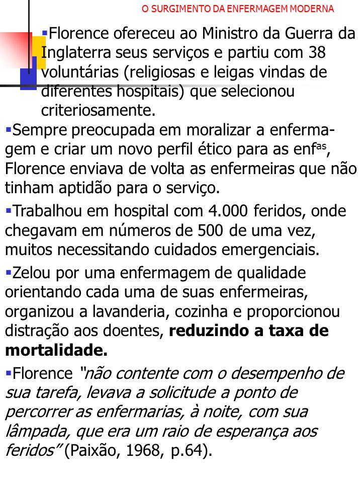 O SURGIMENTO DA ENFERMAGEM MODERNA
