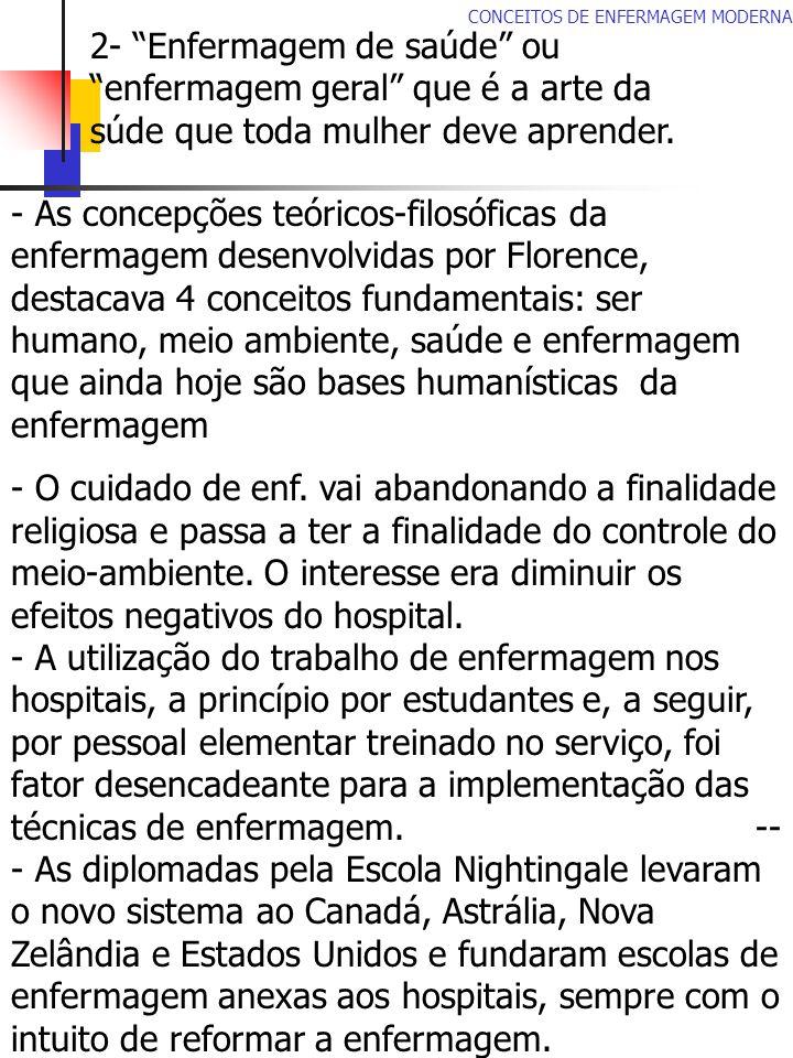 CONCEITOS DE ENFERMAGEM MODERNA