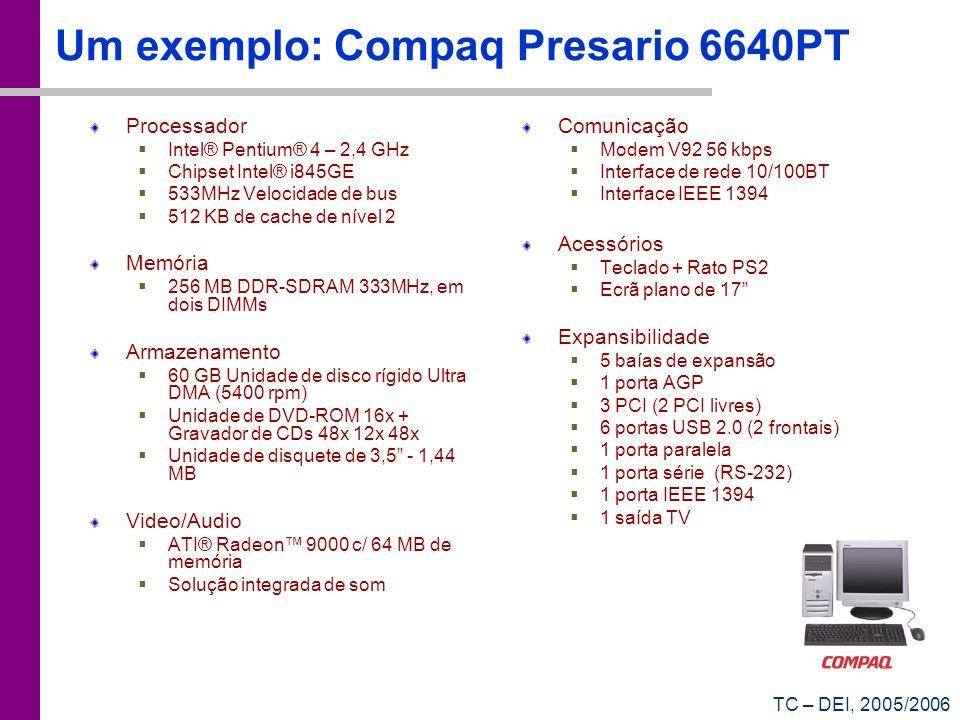 Um exemplo: Compaq Presario 6640PT