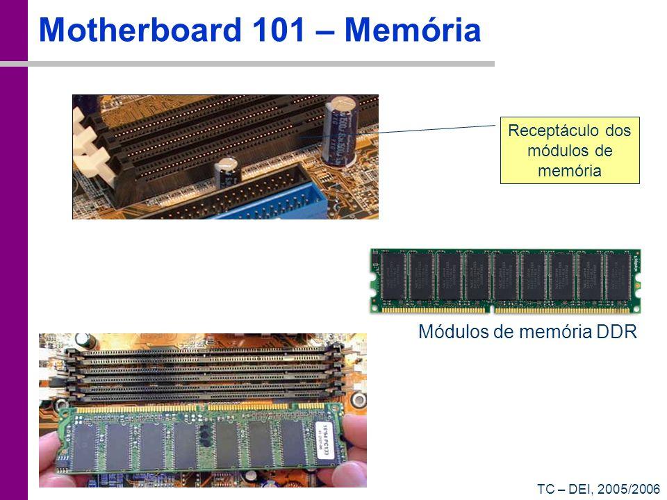 Receptáculo dos módulos de memória