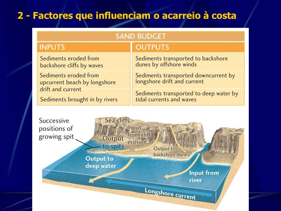 2 - Factores que influenciam o acarreio à costa
