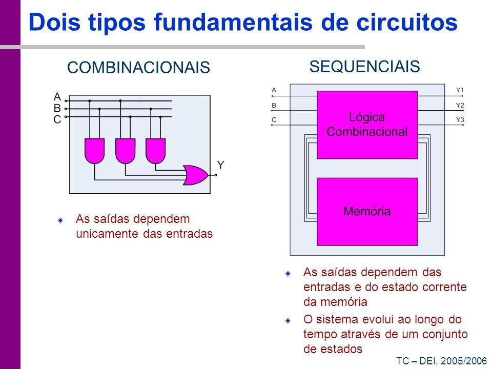 Dois tipos fundamentais de circuitos
