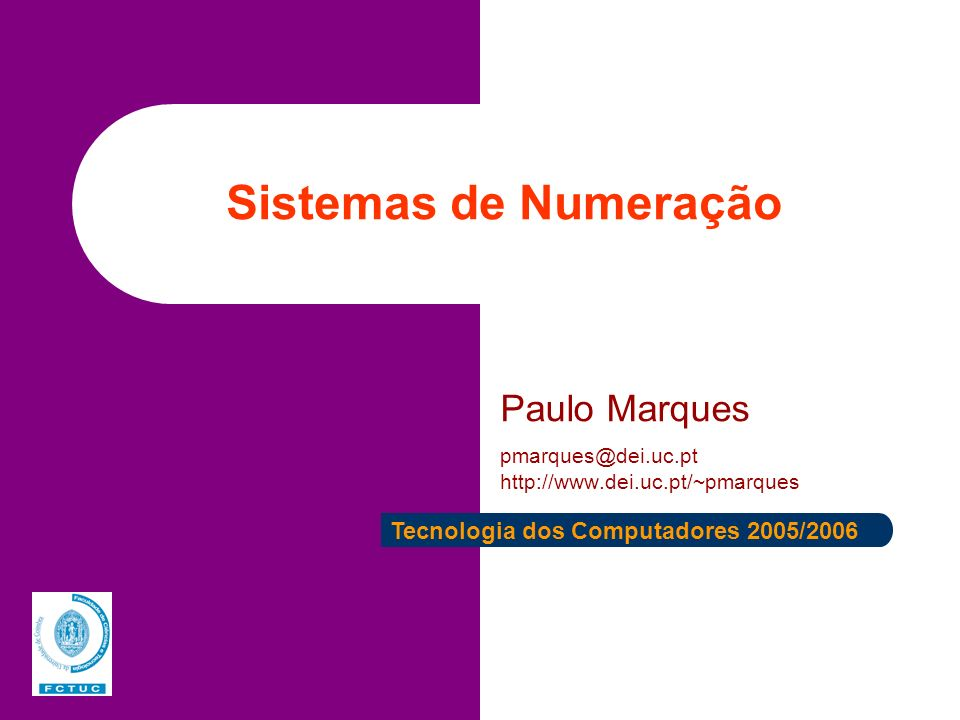 Paulo Marques pmarques@dei.uc.pt http://www.dei.uc.pt/~pmarques