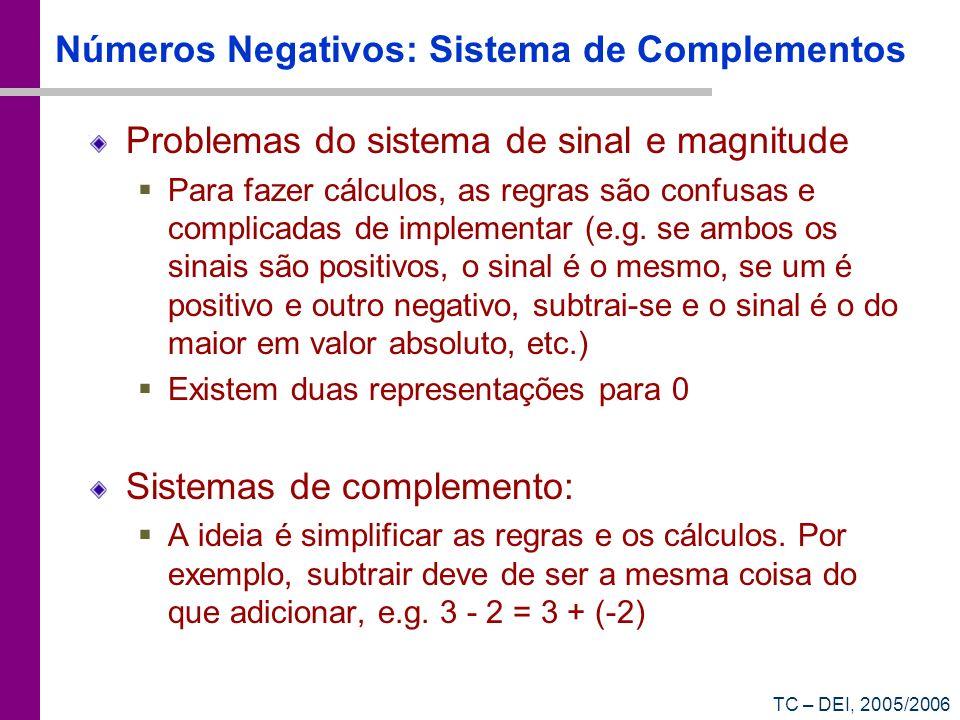 Números Negativos: Sistema de Complementos