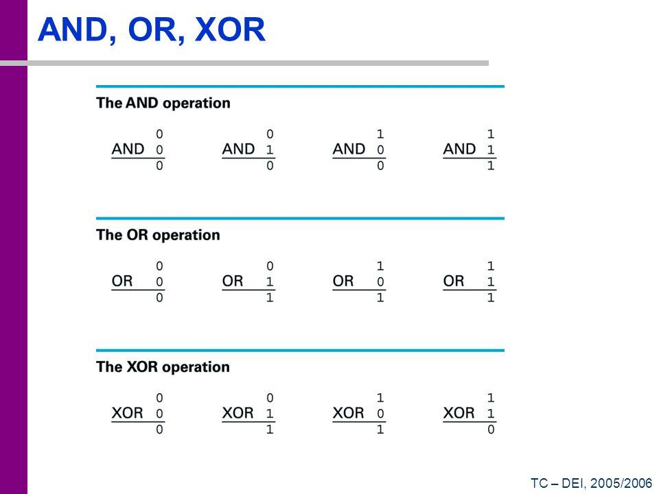 AND, OR, XOR TC – DEI, 2005/2006