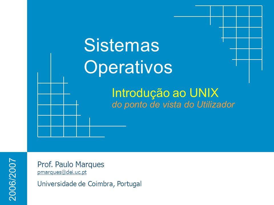 Introdução ao UNIX do ponto de vista do Utilizador