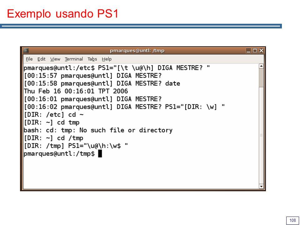 Exemplo usando PS1