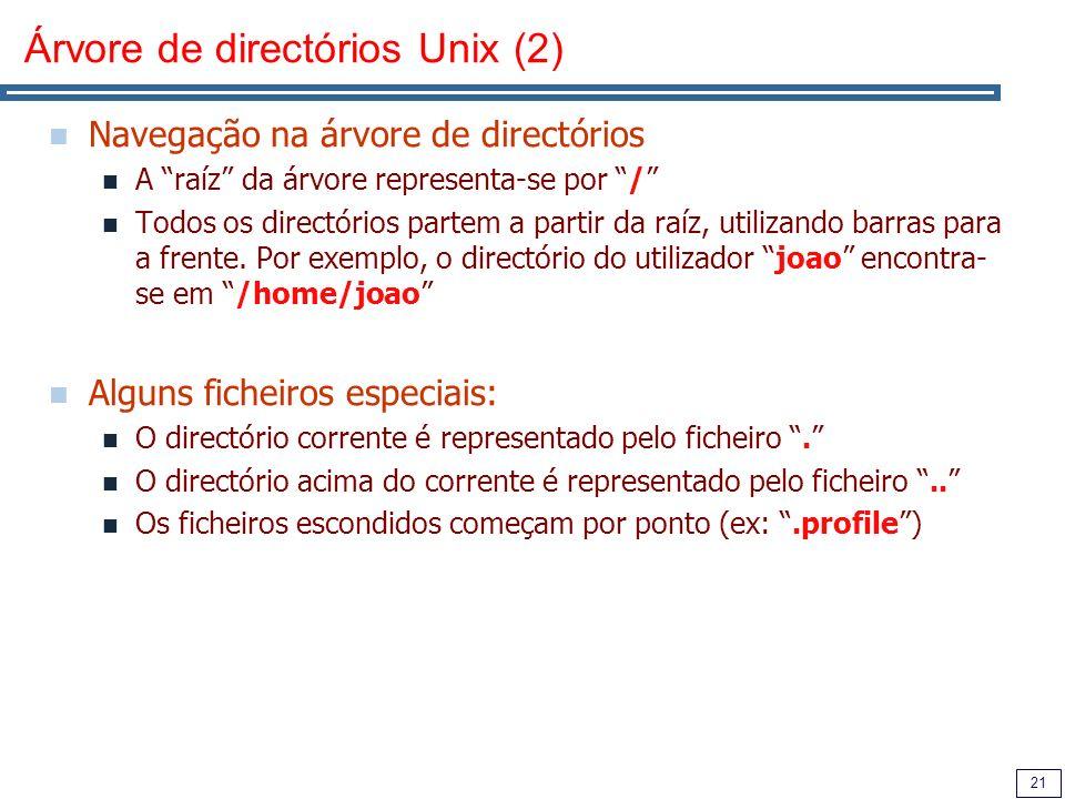 Árvore de directórios Unix (2)