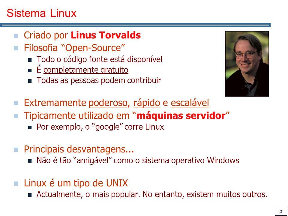 Sistema Linux Criado por Linus Torvalds Filosofia Open-Source
