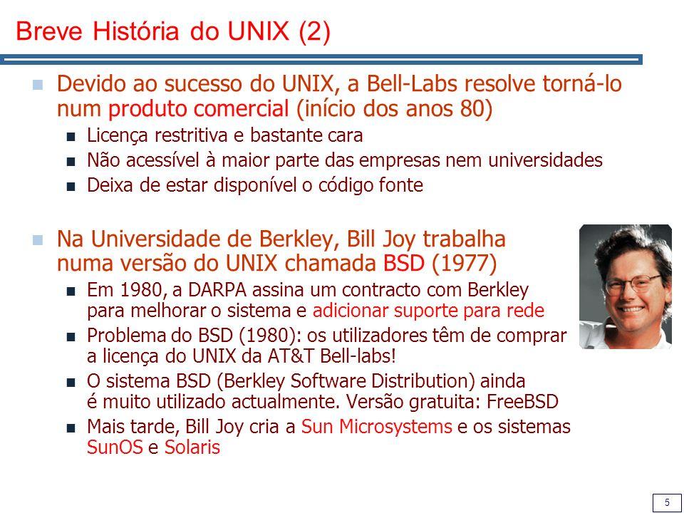 Breve História do UNIX (2)