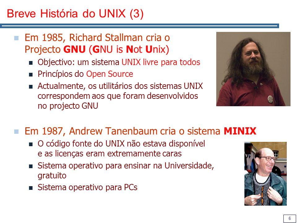 Breve História do UNIX (3)