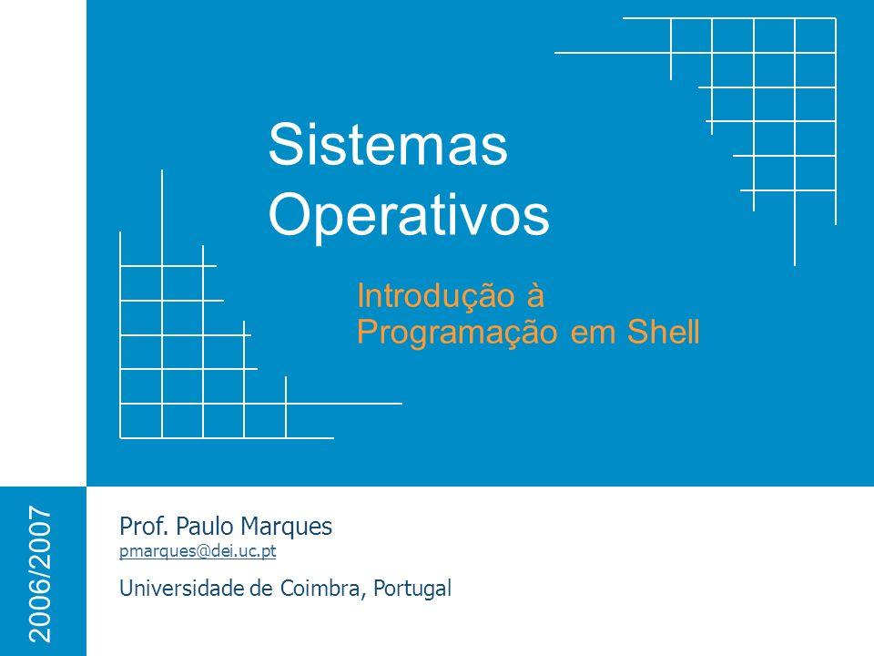Introdução à Programação em Shell