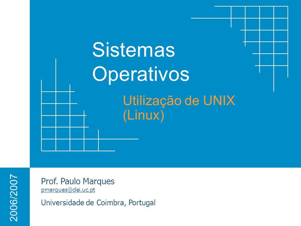 Utilização de UNIX (Linux)
