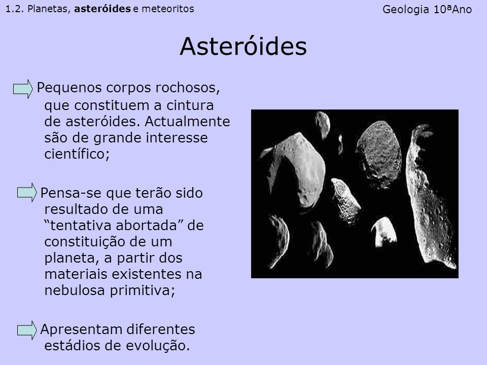1.2. Planetas, asteróides e meteoritos