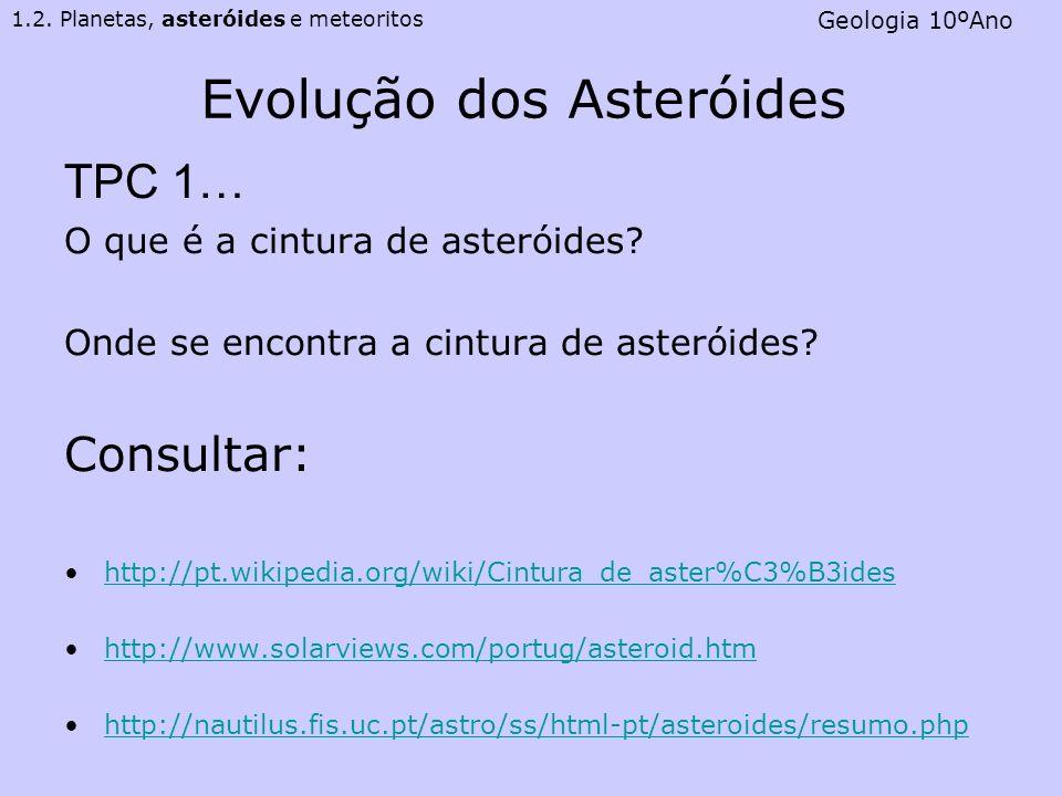 Evolução dos Asteróides
