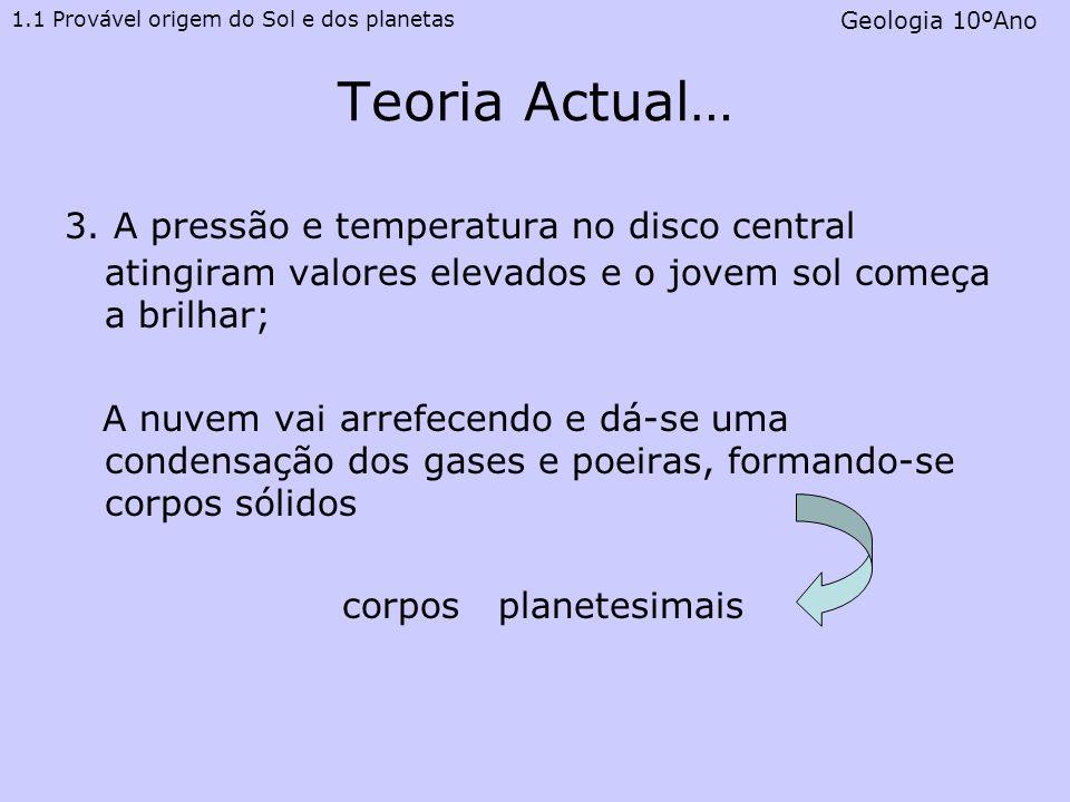 1.1 Provável origem do Sol e dos planetas