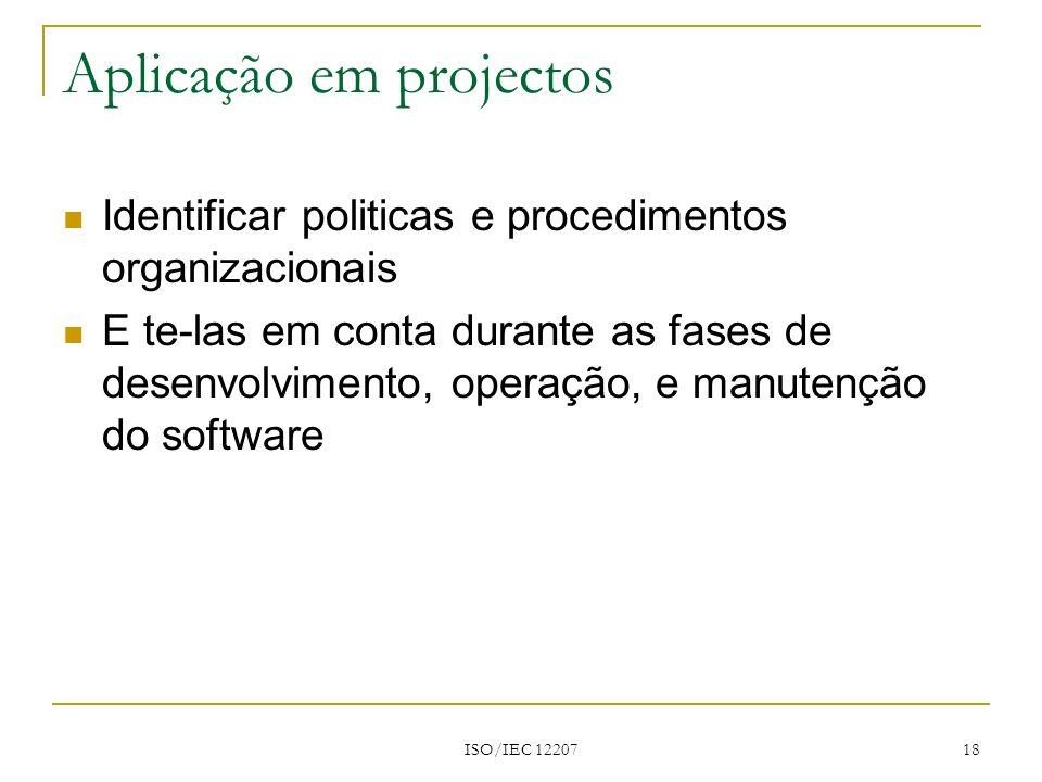 Aplicação em projectos