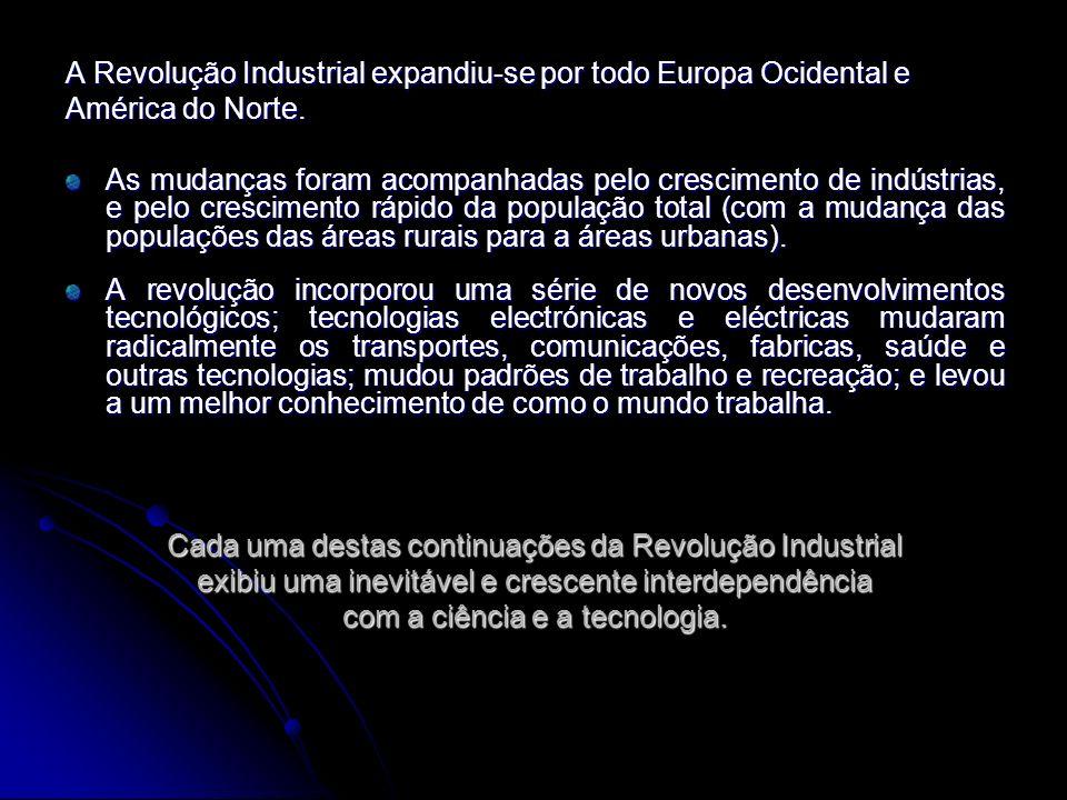 A Revolução Industrial expandiu-se por todo Europa Ocidental e