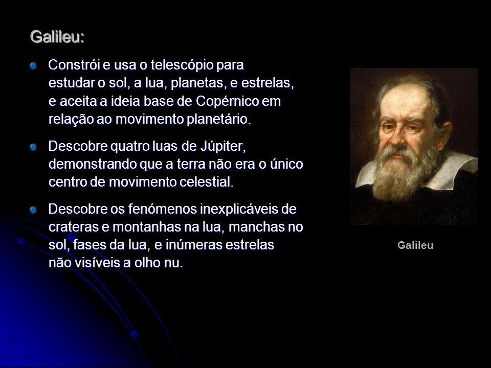 Galileu: Constrói e usa o telescópio para