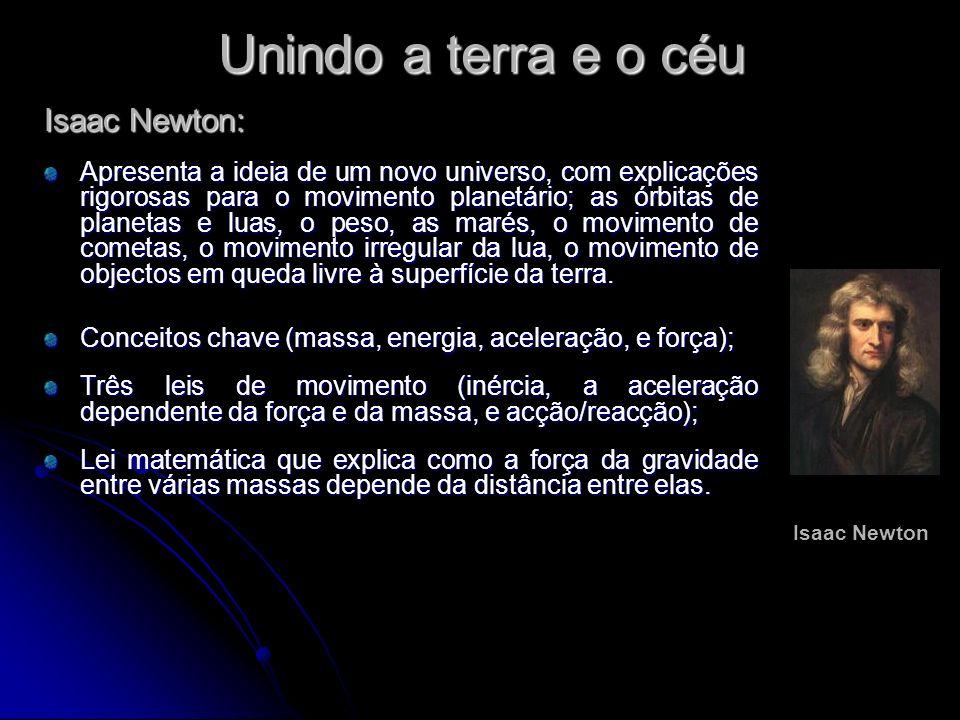 Unindo a terra e o céu Isaac Newton: